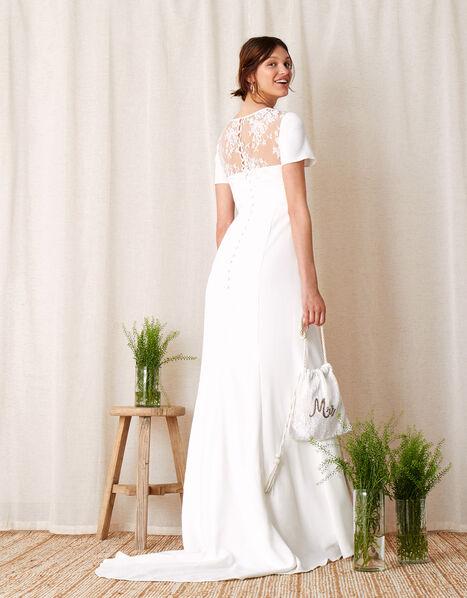 Shauna Crepe and Lace Bridal Dress Ivory, Ivory (IVORY), large