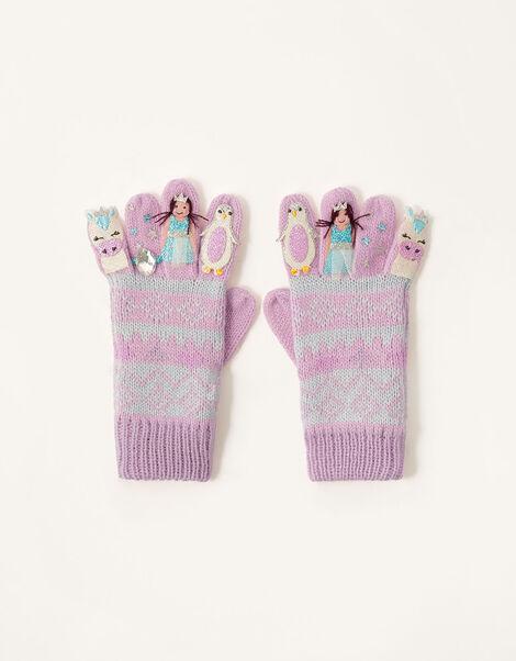 Freda Winter Friends Gloves Multi, Multi (MULTI), large
