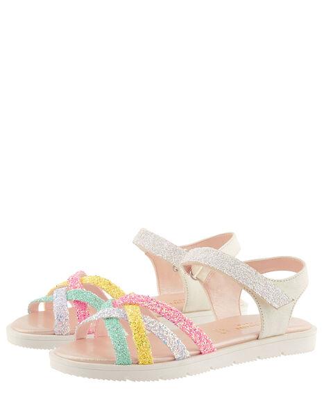 Glitter Rainbow Sandals Multi, Multi (MULTI), large