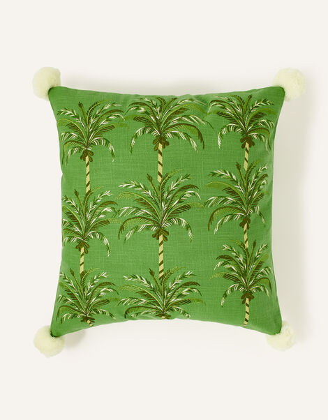 Palm Embroidered Cushion, , large