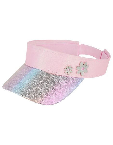 Metallic Rainbow Flower Visor , , large