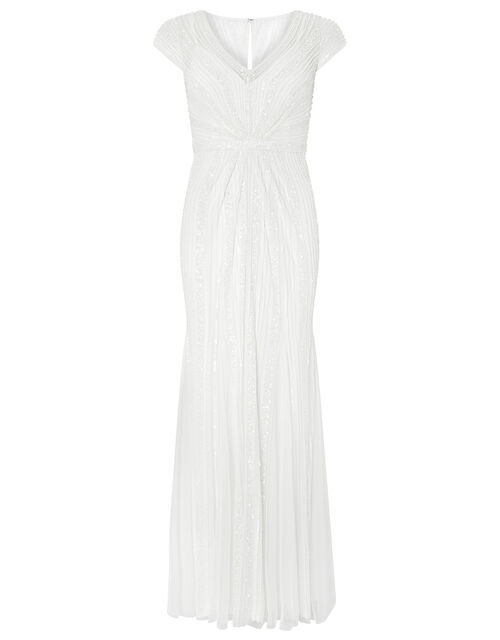 Nora Embellished Fishtail Bridal Dress, Ivory (IVORY), large