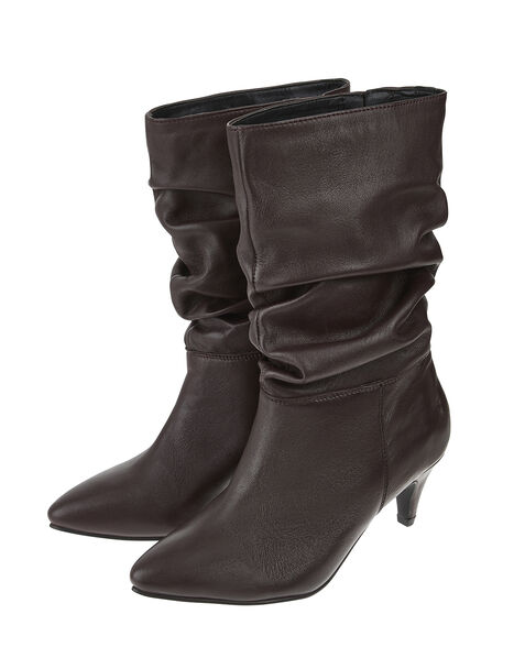 Sal Slouch Suede Boots Red, Red (BURGUNDY), large