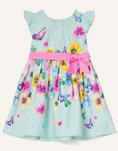 Baby Floral Jacquard Dress  Blue, Blue (AQUA), large