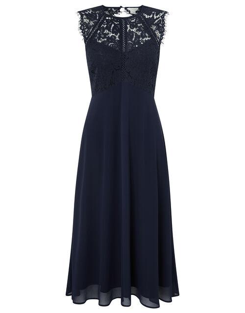 Morgane Lace Short Bridesmaid Dress, Navy, large