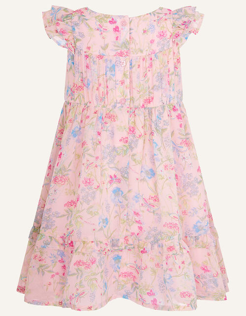 Baby Floral Chiffon Dress in Recycled Polyester, Pink (PALE PINK), large