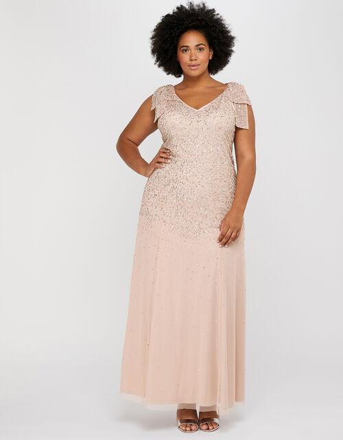 Molly Scatter Embellished Maxi Dress, Blush, large