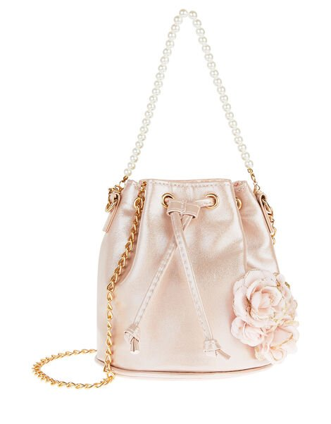 Arianna Rose Pearl Pouch Bag , , large