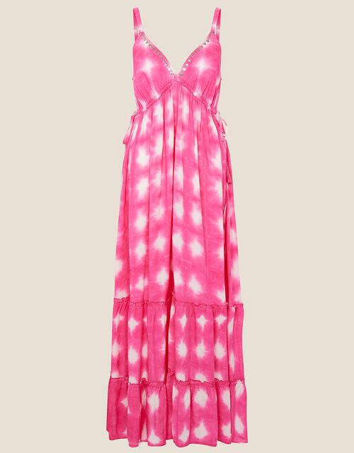 Tie Dye Maxi Dress , Pink (PINK), large