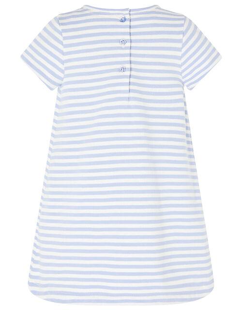 Baby Duckie Sweat Dress in Organic Cotton , Blue (BLUE), large