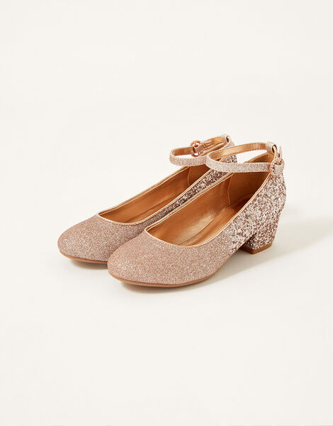Ombre Glitter Heels Gold, Gold (ROSE GOLD), large