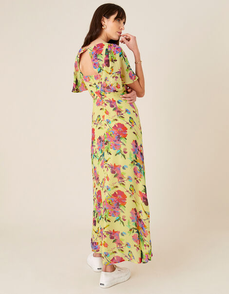 Helen Dealtry Floral Tea Dress Yellow, Yellow (YELLOW), large
