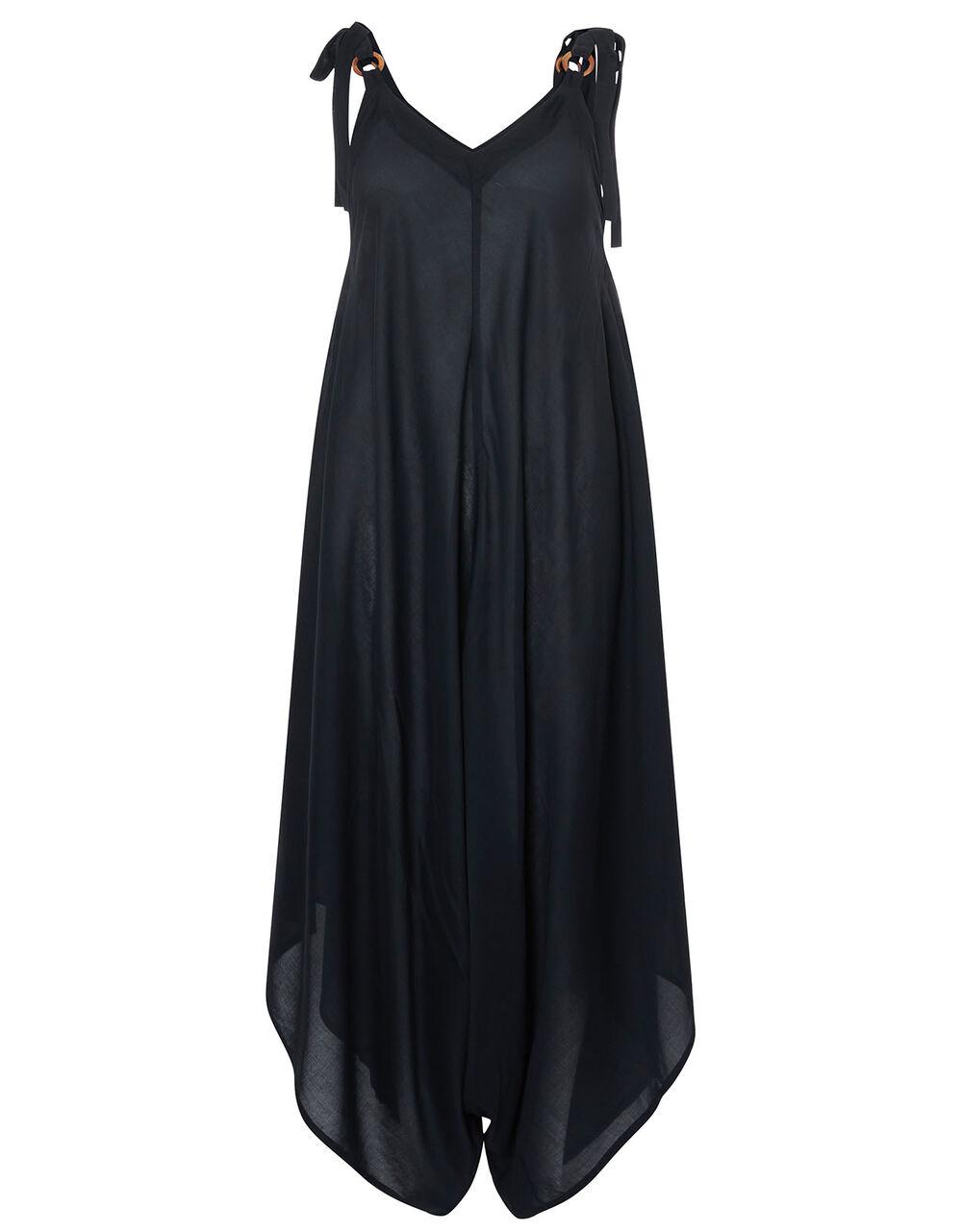 Relaxed Romper in LENZING™ ECOVERO™, Black (BLACK), large