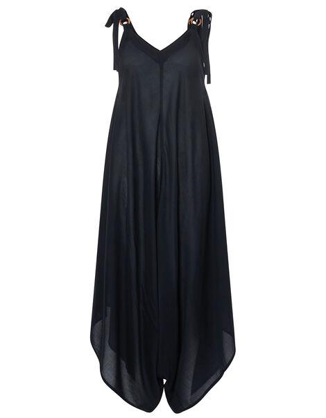 Relaxed Romper in LENZING™ ECOVERO™ Black, Black (BLACK), large