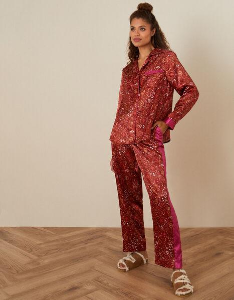 Star Print Full-Length Pyjama Set Red, Red (RED), large