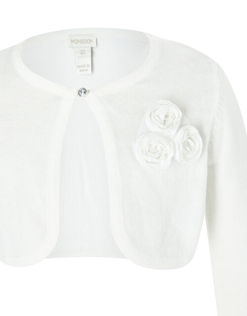 Colette 3D Flower Cardigan in Organic Cotton, , large