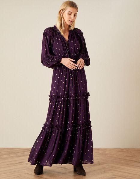Adena Maxi Dress Purple, Purple (PURPLE), large