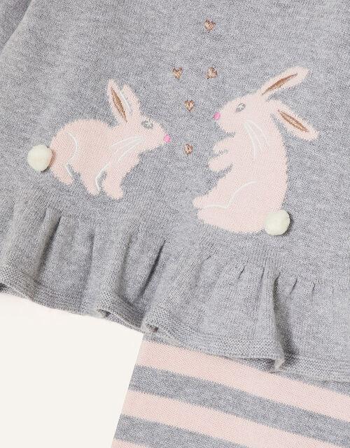 Newborn Bunny Knit Set, Pink (PINK), large
