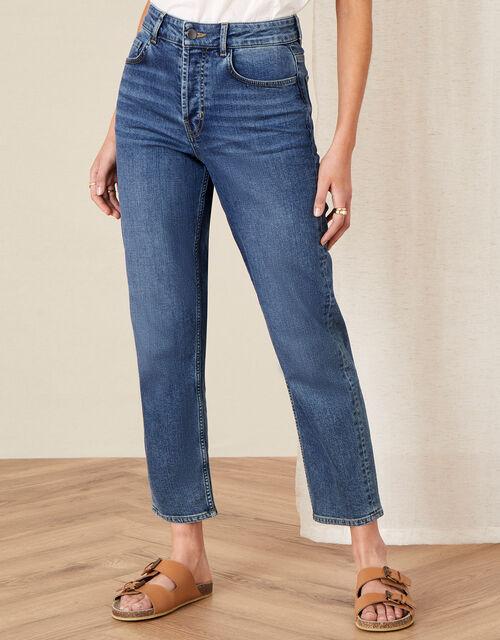 Straight Leg Jeans , Blue (DENIM BLUE), large