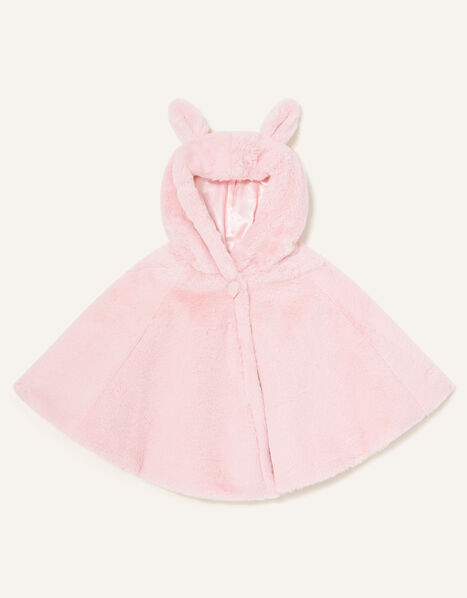 Baby Bunny Faux Fur Poncho, , large
