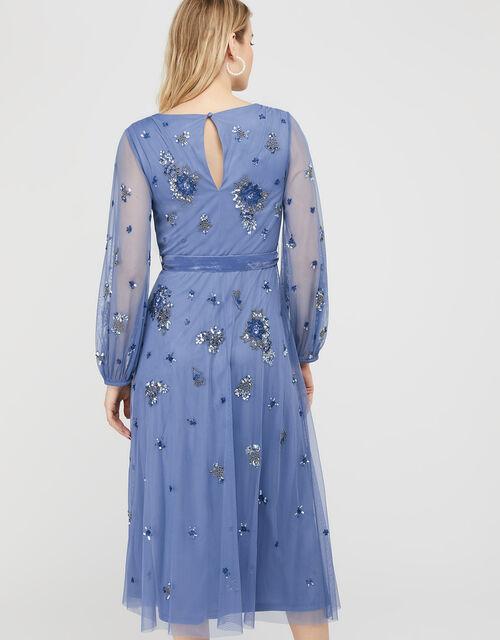 ARTISAN Rosanna Embellished Midi Dress, Blue (BLUE), large