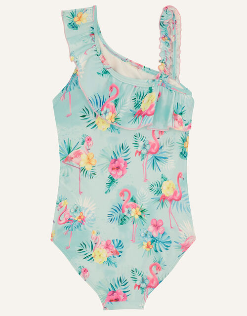 Florence Flamingo Swimsuit, Blue (AQUA), large