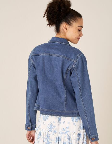 Denim Jacket with Organic Cotton  Blue, Blue (DENIM BLUE), large