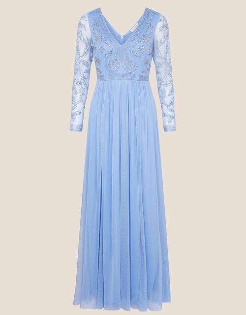 ARTISAN Leela Embroidered Maxi Dress , Blue (BLUE), large