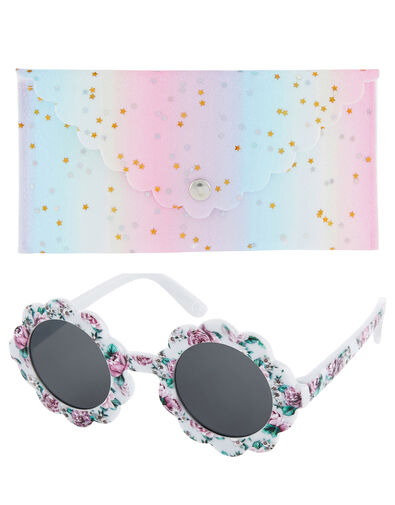 Baby Leena Floral Sunglasses with Case, , large