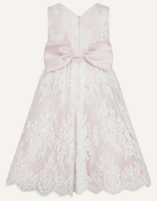 Lace High-Low Dress, Pink (PINK), large