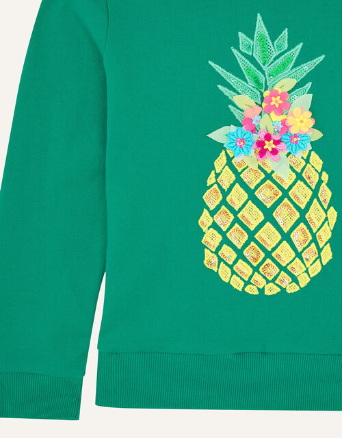 Sequin Pineapple Hoody, Green (GREEN), large