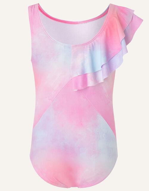 Tie-Dye Frill Swimsuit, Multi (MULTI), large