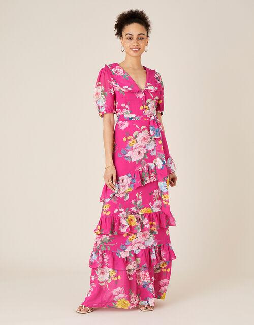 Vivenne Floral Maxi Dress , Pink (PINK), large