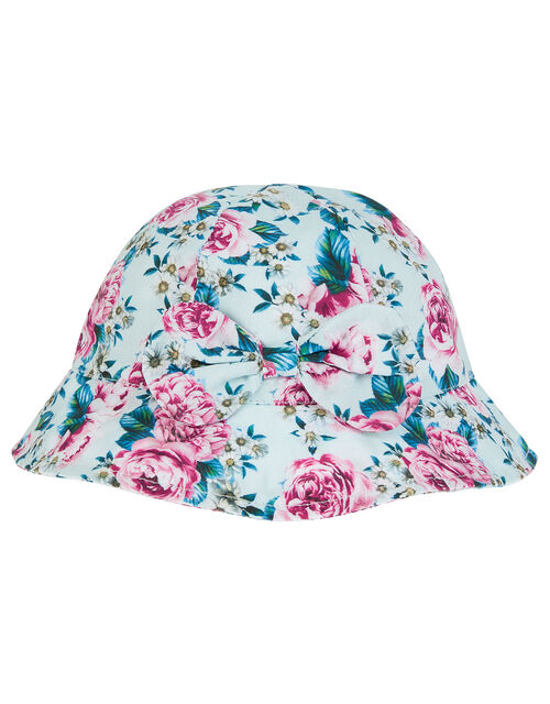 Baby Leena Floral Bucket Hat, Blue (BLUE), large