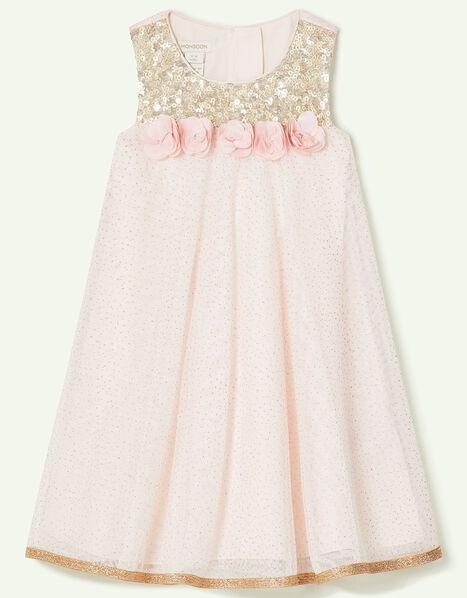 Baby Petal Sequin Swing Dress Pink, Pink (PINK), large