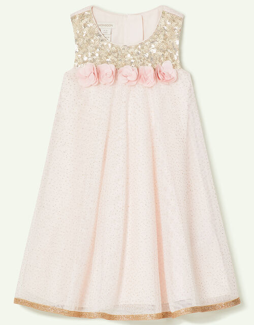 Baby Petal Sequin Swing Dress, Pink (PINK), large