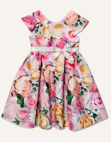 Floral Print Scuba Dress  Pink, Pink (PINK), large