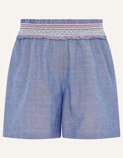 Fiesta Chambray Shorts  Blue, Blue (BLUE), large