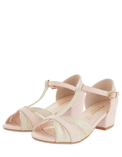 T-Bar Open Toe Charleston Heels Pink, Pink (PINK), large