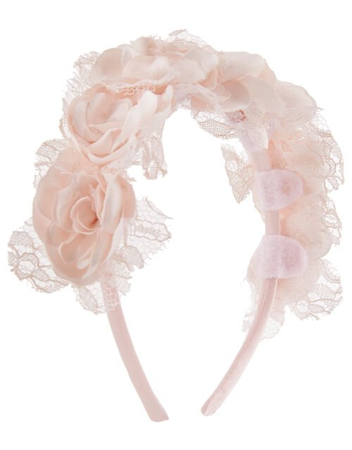 Vintage Lace Floral Headband, , large