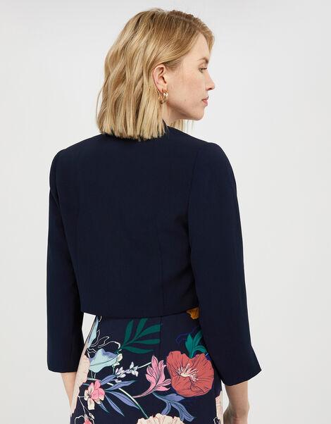 Juni Cropped Jacket Blue, Blue (NAVY), large
