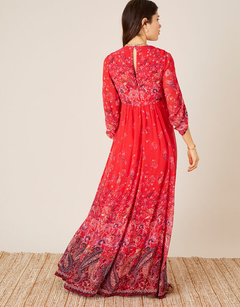 Jasmine Printed Maxi Dress Red, Red (RED), large