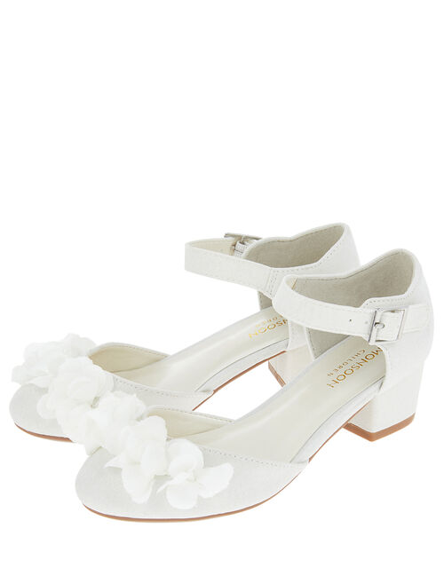 Sophia Corsage Two Part Shimmer Shoes, Ivory (IVORY), large