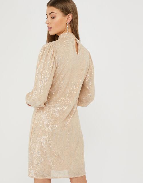 Adara Sequin Short Dress, Pink (BLUSH), large