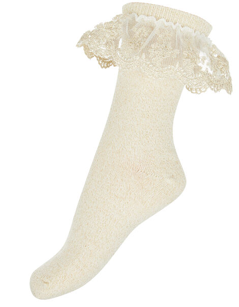 Ellen Gold Sparkle Socks Gold, Gold (GOLD), large