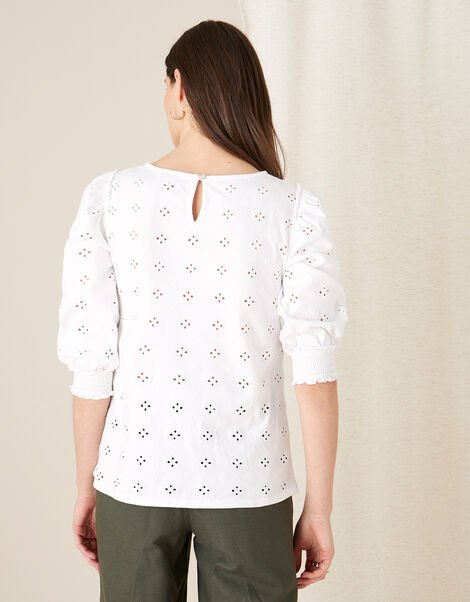 Broderie Top  White, White (WHITE), large