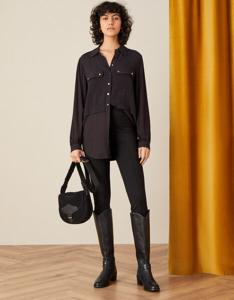 Perry Ponte Trousers Black, Black (BLACK), large