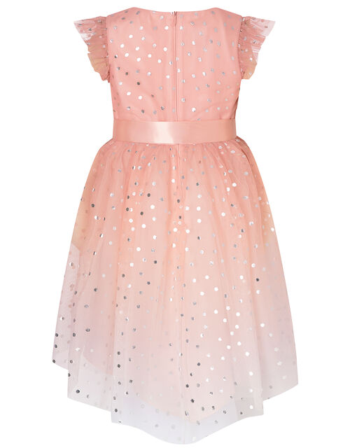 Metallic Spot Ombre Dress, Pink (PINK), large