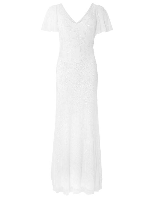 Kitty Bridal Embellished Maxi Dress, Ivory (IVORY), large