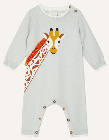 Newborn Giraffe Sleepsuit Grey, Grey (GREY), large